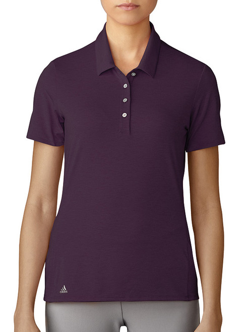 Adidas W Cotton Hand Polo - Red Night
