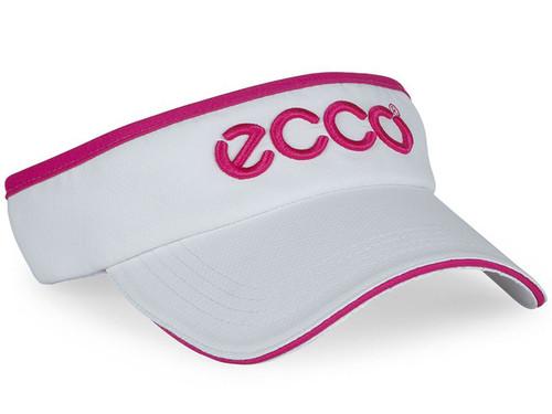 Ecco Ladies Golf Visor - White/Candy