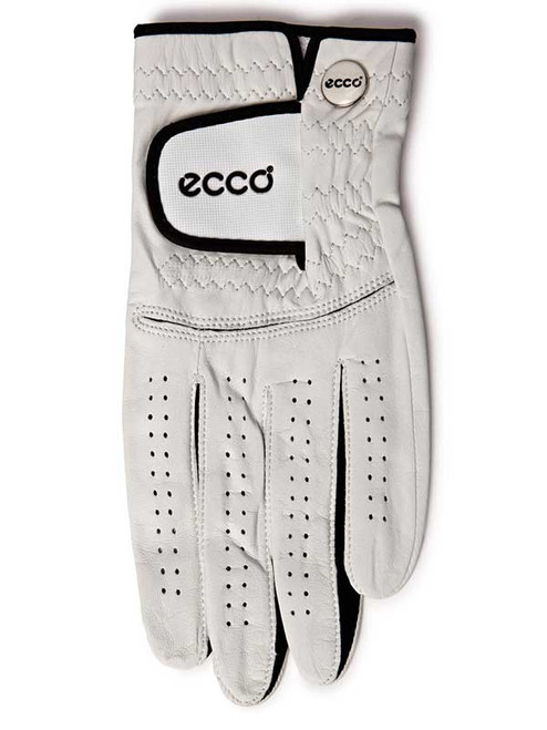 Ecco Leather Golf Glove - White