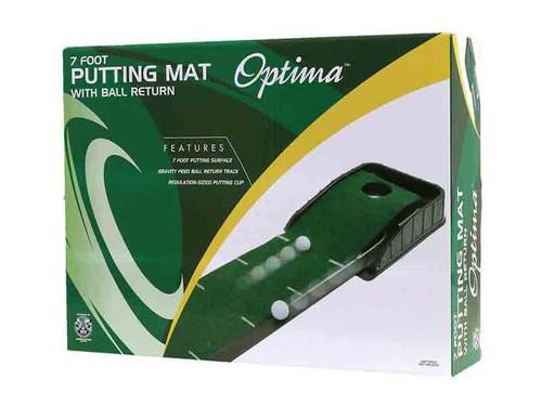 Optima 7ft Putting Mat With Ball Return