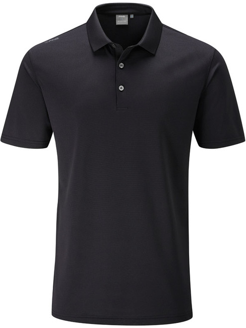 Ping Lincoln Tailored Fit Polo - Black