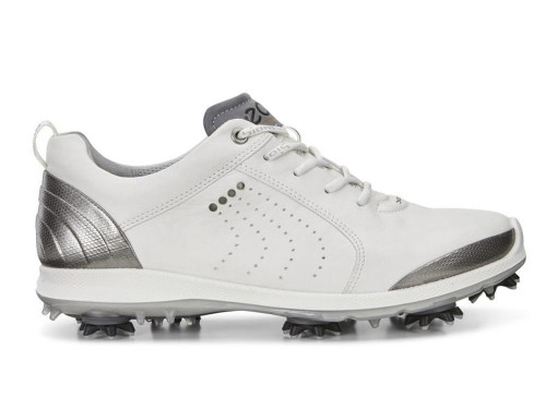 Ecco Ladies Biom G2 Golf Shoes - White/Buffed Silver