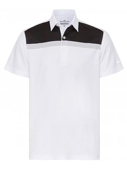 Sporte Leisure Sportec Crew Polo - White/Black