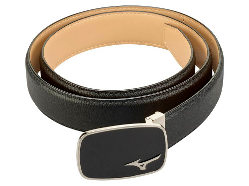 Mizuno Logo Leather Belt - Black