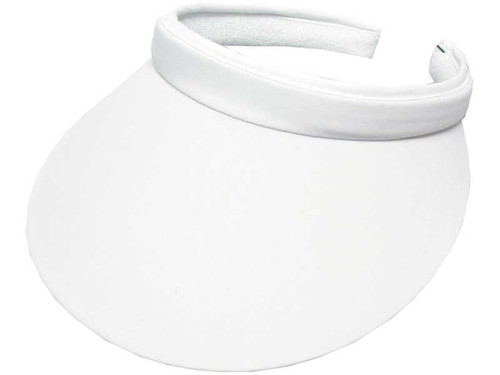 Avenel Ladies Clip Visor With Green Under - White