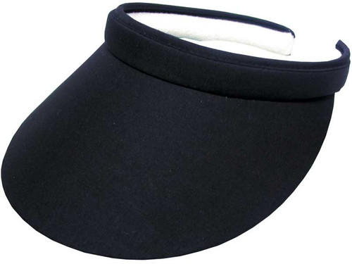 Avenel Ladies Clip Visor With Green Under - Black