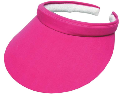 Avenel Ladies Clip Visor With Green Under - Pink