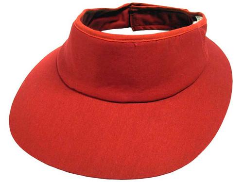 Avenel Ladies Wrap Around Visor - Red