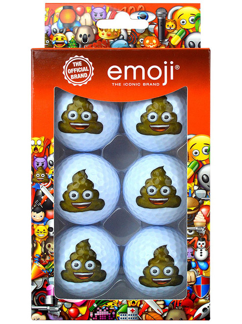 Emoji Golf Balls - 6 Pack Poop