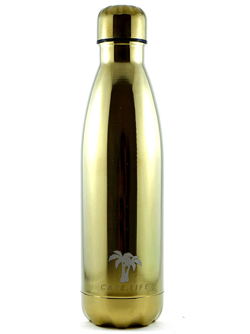 Caye Life Hamilton 500ml Drink Bottle Gold Metallic
