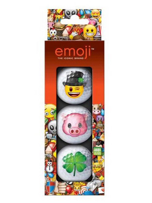 Emoji Golf Balls - 3 Pack Lucky