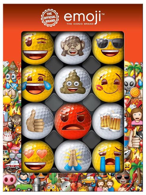 Emoji Golf Balls - 1 Dozen Multi