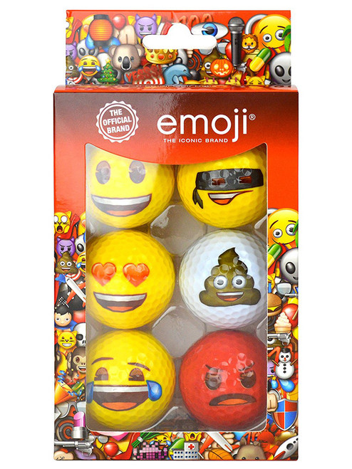 Emoji Golf Balls - 6 Pack Multi