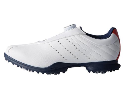 Adidas Ladies Driver BOA 2 Golf Shoes - FTWR White/Scarlet