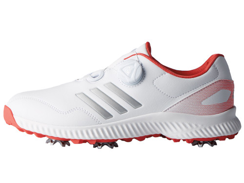 Adidas Ladies Response Bounce BOA Golf Shoes - White/Coral