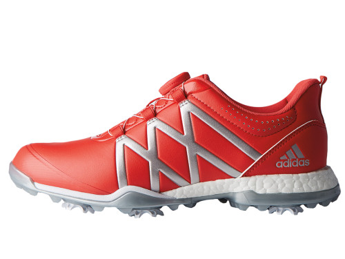 Adidas Adipower Boost BOA Ladies Golf Shoes - Coral/Silver