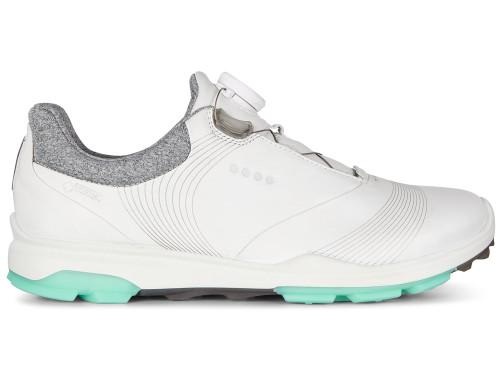 Ecco W Biom Hybrid 3 BOA Golf Shoes - White/Emerald