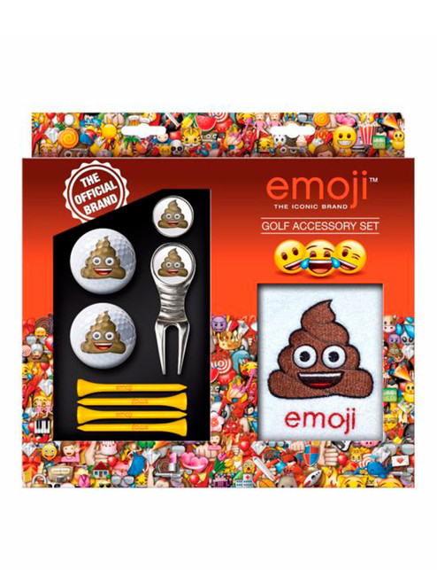 Emoji Golf Accessory Set Poop