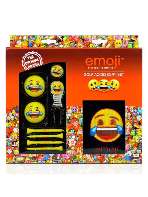 Emoji Golf Accessory Set Laughing