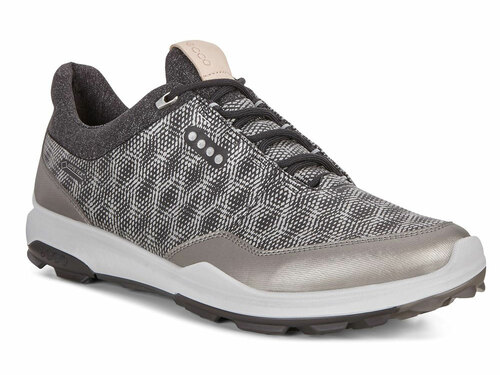 Ecco Biom Hybrid 3 Hybrid Golf Shoes - Black/Buffed Silver