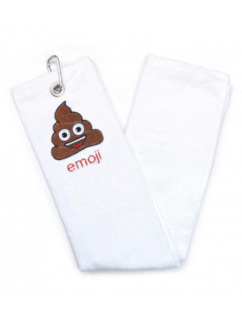 Emoji Golf Towel Poop