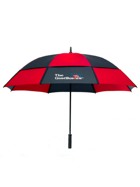 GustBuster Pro Series Gold Umbrella 62 Inch Black/Red