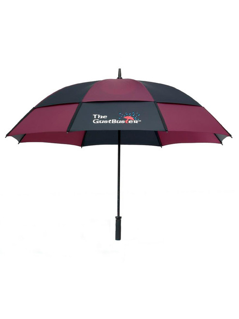 GustBuster Pro Series Gold Umbrella 62 Inch Black/Burgandy