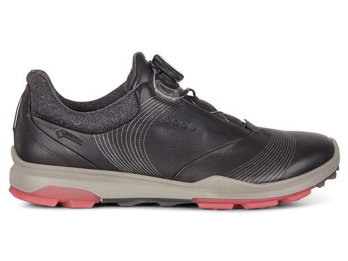 Ecco W Biom Hybrid 3 BOA Golf Shoes - Black/Teaberry