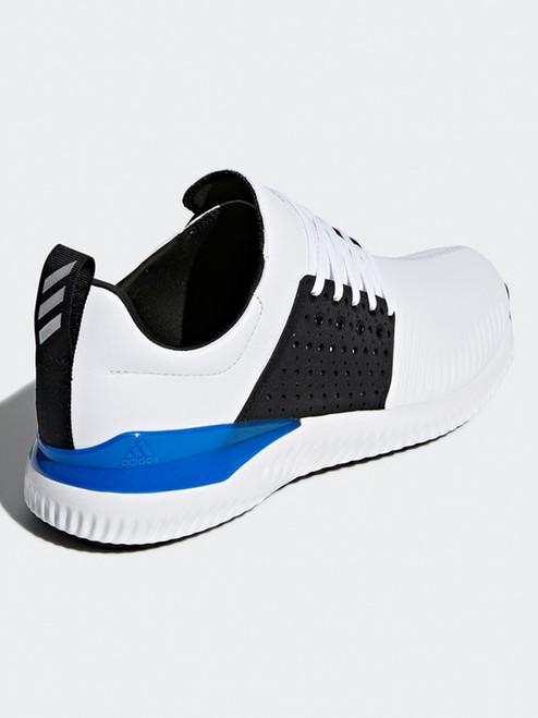 Adidas Adicross Bounce Leather Golf Shoes - White/Black/Blue