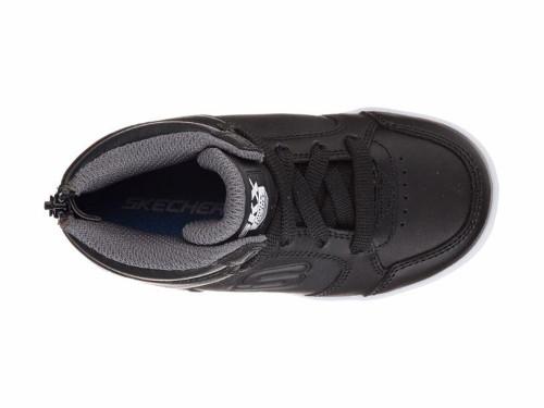 d6d973ab94ff Skechers Kids Energy Lights Mid Top - Black - Juniors - Leather ...