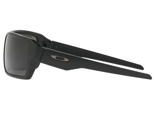 Oakley Double Edge Sunglasses - Matte Black w/ Dark Grey