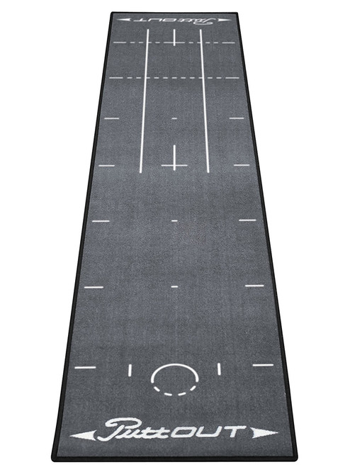PuttOUT Pro Golf Putting Mat Grey