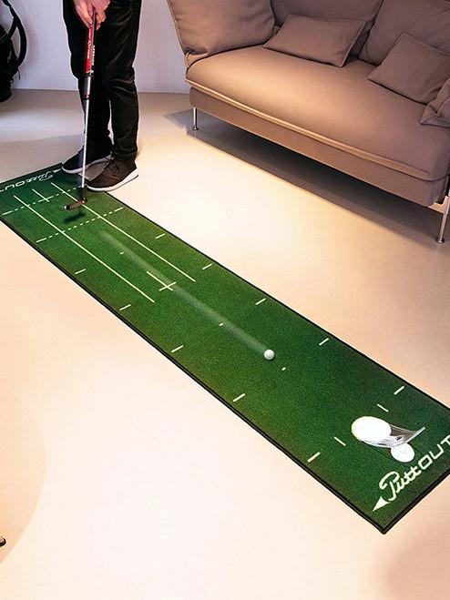PuttOUT Pro Golf Putting Mat Green