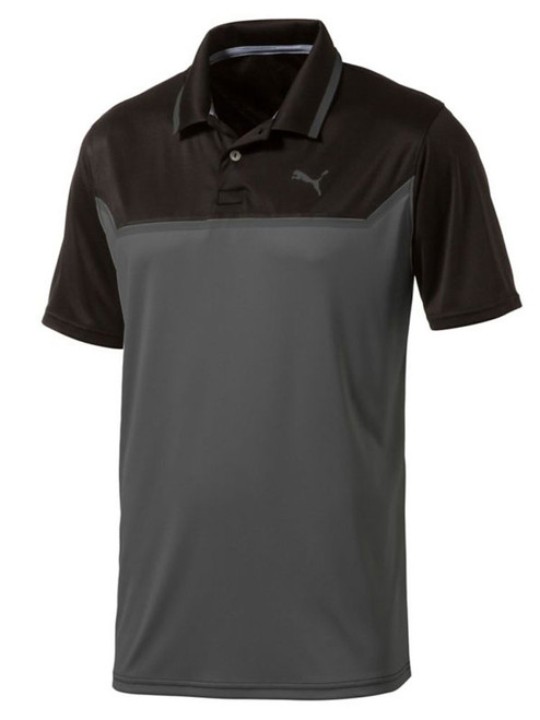 Puma Bonded Tech Polo - Puma Black/Quiet Shade