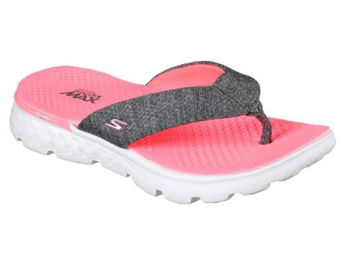 Skechers Ladies On The Go 400 Vivacity - Charcoal/Hot Pink