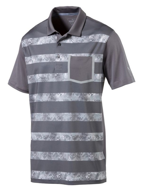Puma Camo Stripe Polo - Quiet Shade