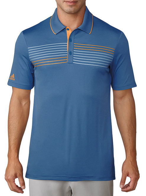 Adidas Essentials Textured Polo - Trace Royal/Real Gold