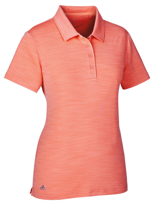 Adidas Ladies Ultimate SS Polo - Chalk Coral