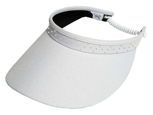 Glove It Bling Crystal Coil Visor - White