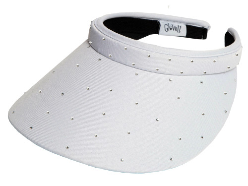 Glove It Bling Crystal Clip Visor - White