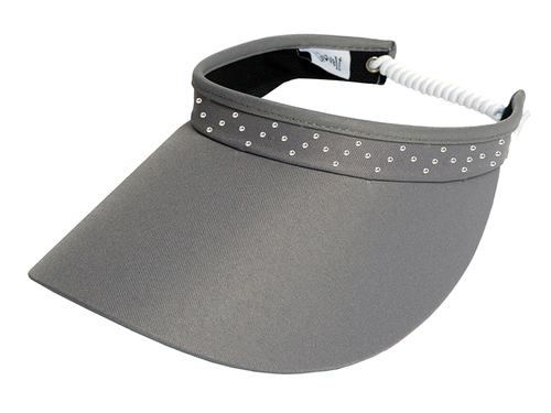 Glove It Bling Crystal Coil Visor - Grey