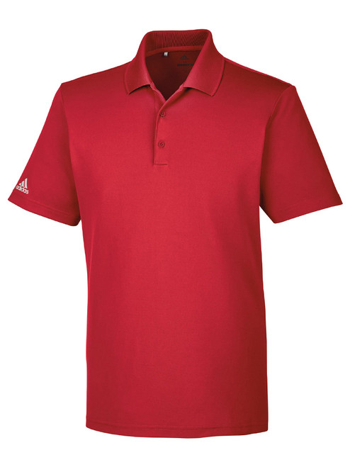 Adidas Mens Performance Polo - Collegiate Red