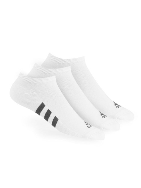 Adidas 3 Pack No-Show Socks - White