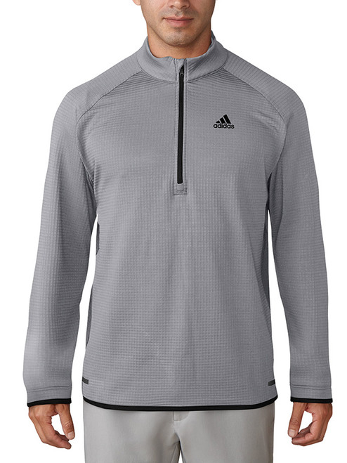 Adidas Climaheat Griddled Qtr Zip Jacket - Mid Grey