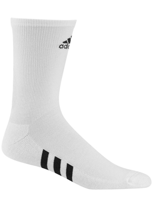 Adidas 3 Pack Crew Socks - White