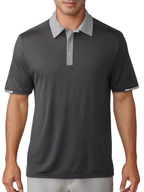 Adidas Climachill Stretch Polo - Carbon/Grey Three