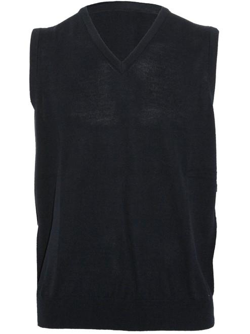 Sporte Leisure True Knit V-Neck Club Vest - Black