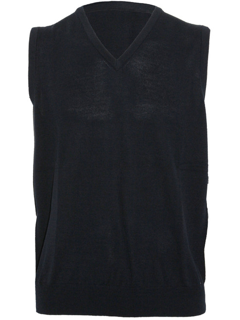 Sporte Leisure True Knit V-Neck Club Vest - Black