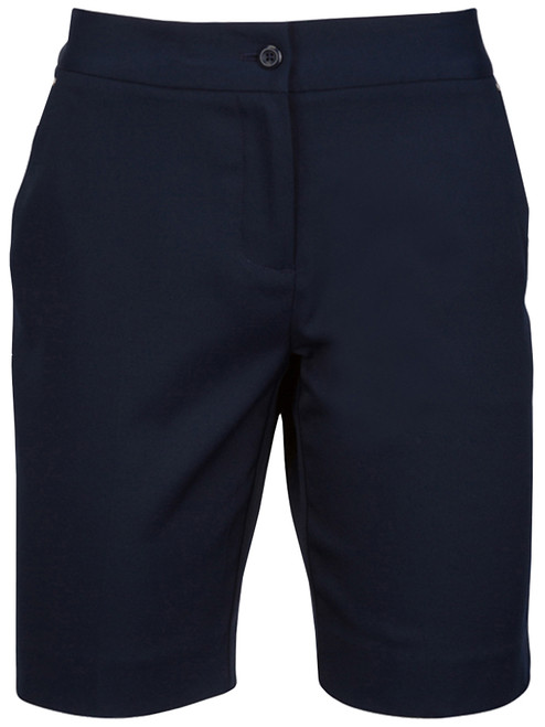 Greg Norman Ladies Easy Play Stretch Short - Navy