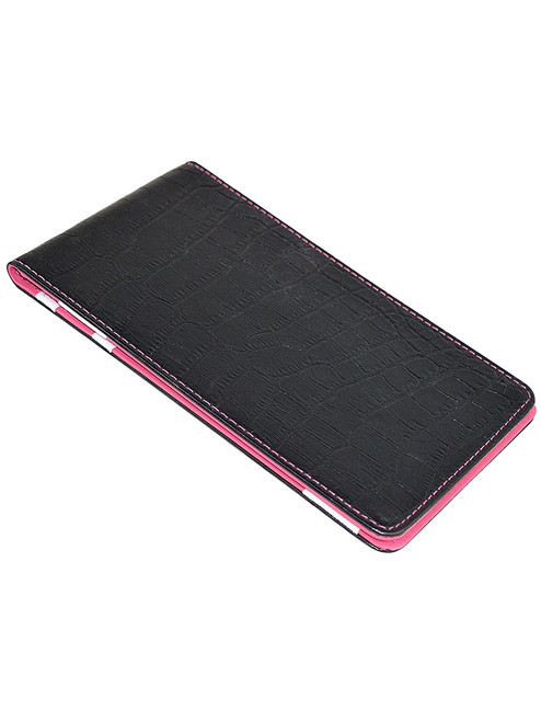On Par Scorecard Holder Croc Print Black/Pink